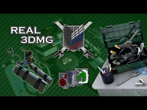 Real 3DMG Movie (ENG SUBS) Attack On Titan (three dimensional maneuver gear)