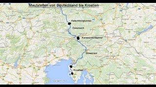 Mautstationen von D bis Kroatien