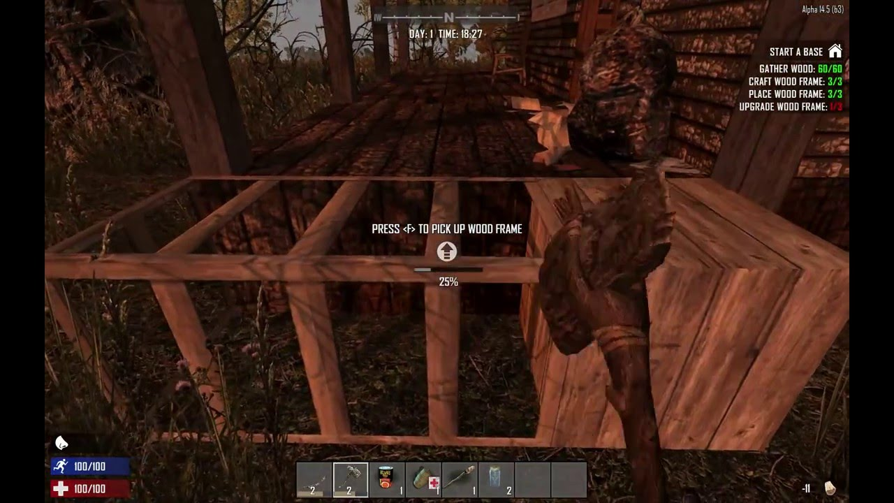 How to upgrade a wood frame (7 Days To Die ) - YouTube