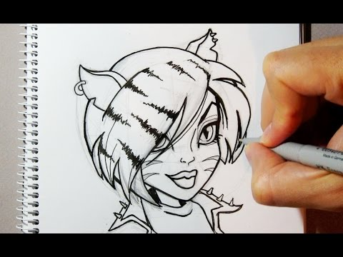 how to draw toralei from monster high step by step youtube