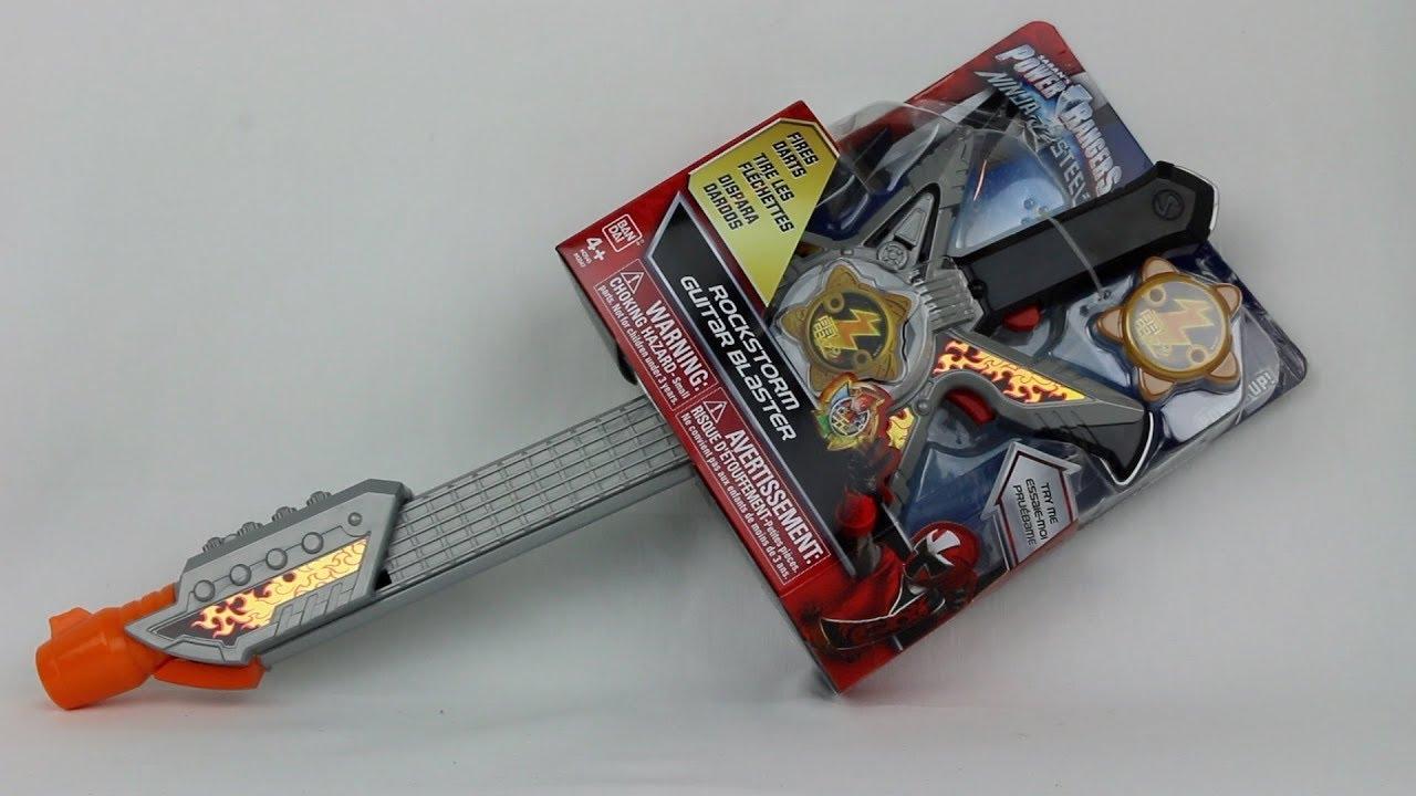 Ninja Rangers Power Steel Blaster Rockstorm Guitar Play New Kids Stars Role Gold