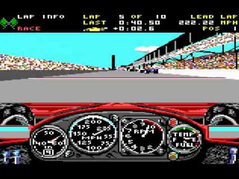 Indianapolis 500 The Simulation Graphic Modes & PC vs Amiga