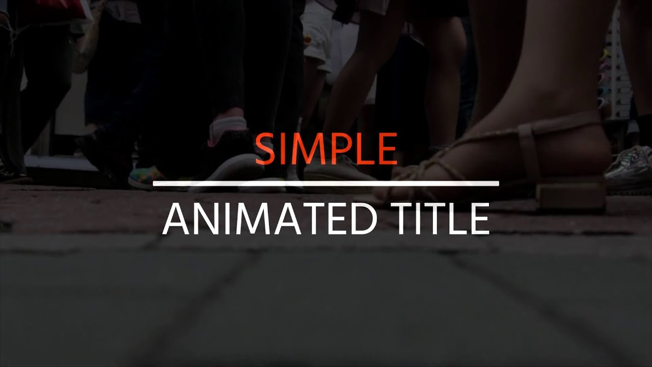 How to make Animated titles for free in Blender | 2D tutorial