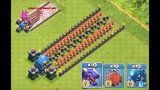 Clash of Clans ,  Who can survive? troll base