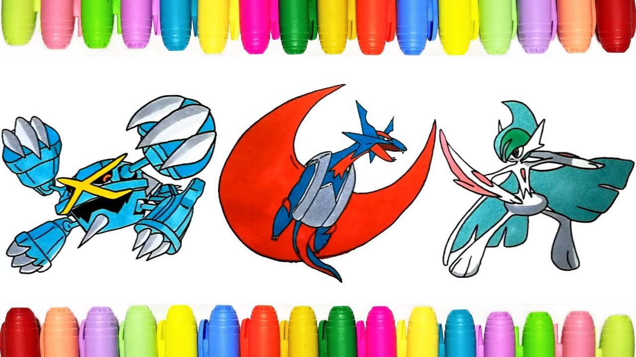 Pokemon Coloring Pages Mega Metagross Salamence And Gallade