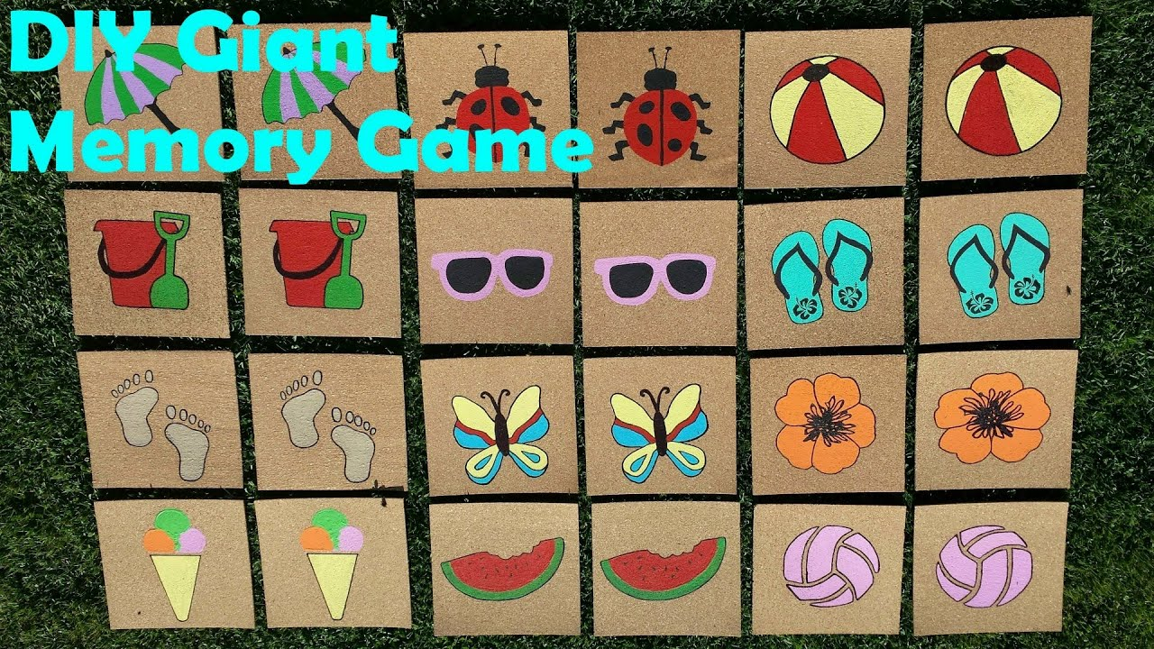 DIY Giant Outdoor Memory Game