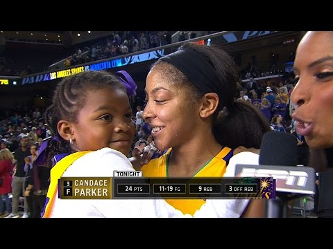 Candace Parker Post-Game with her Daughter Laila
