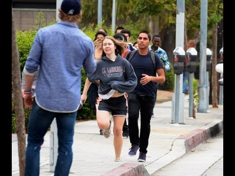 Santa Monica College shooting, nearby fire