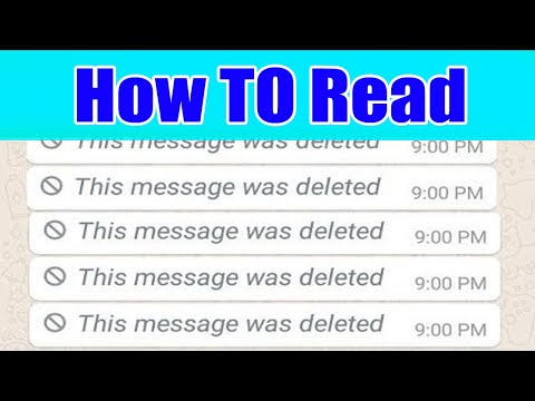 How To Read Deleted Messages On Whatsapp Messenger | This Message Was Deleted - see deleted messages