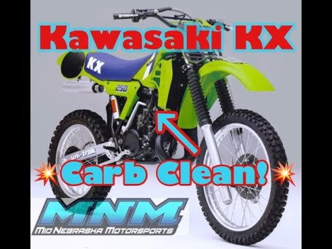 Kawasaki KX 250 KX250 Carburetor -How To CLEAN, REBUILD, REPACE Float Slide Seat Fuel Gas Throttle