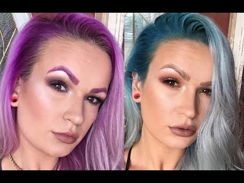Purple To Teal How I Dye My Hair Platinum Blonde With Colored