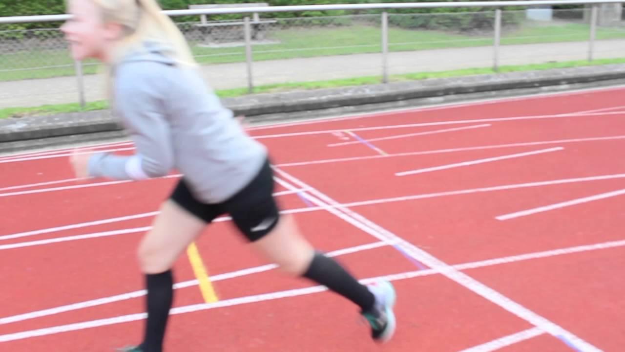 100 meter-løb Mathilde, Marius og Karl Emil - 2016