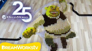 25 Years of DreamWorks Animation in 100,000 Dominoes!