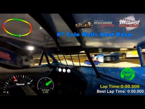 #7 Cole Wells Heat Race Malvern Bank Cash Money SuperDirt Lebanon Midway Speedway