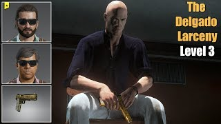HITMAN 2 - The Delgado Larceny Escalation Level 3 | Silent Assassin Easy Guide | Colombia