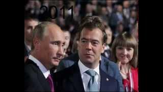 Уши Путина в 2000 2015 г. г.