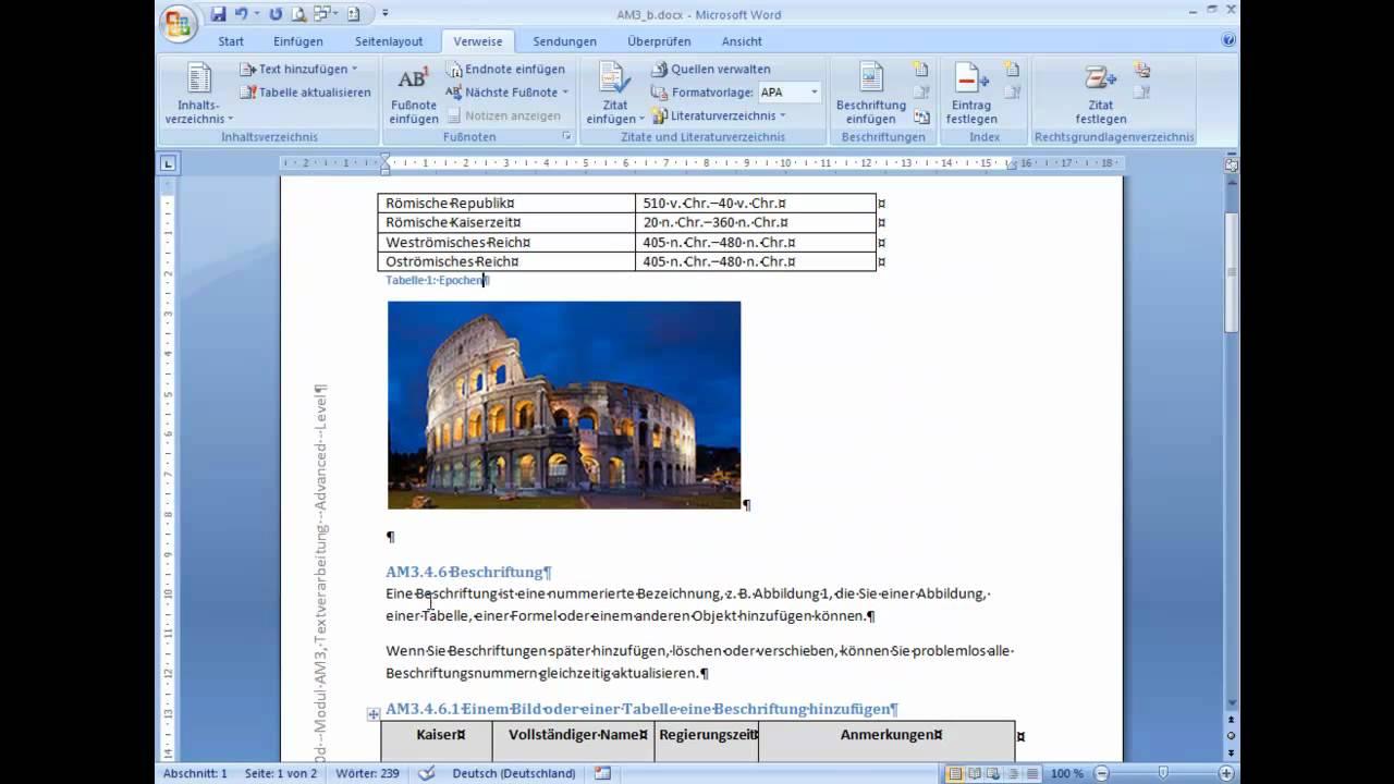 Am3460 Bilder In Worddokumenten Beschriften Und Nummerieren