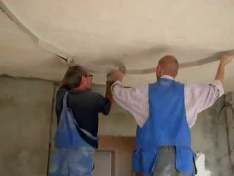 видео: монтаж потолка в форме эллипса