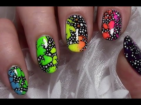 abstract rainbow ombre nail art design colorful summer party nails youtube. Black Bedroom Furniture Sets. Home Design Ideas