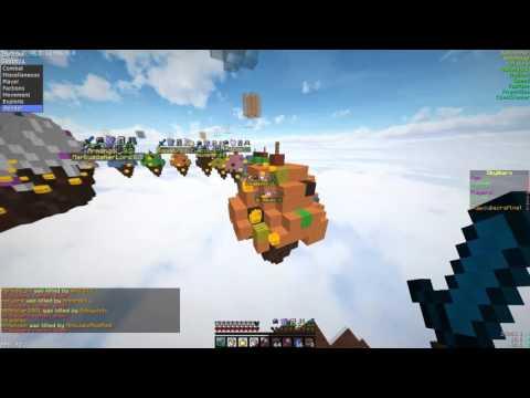 Hacking On Cubecraft Skywars #3 | Jumping To Islands?!? | Sallos