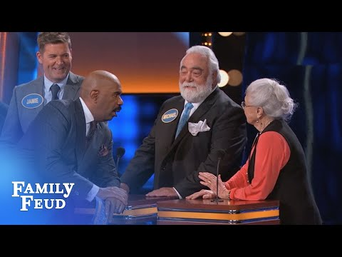Paula Deen's 86yr old aunt likes THIS about men's underwear... | Celebrity Family Feud | OUTTAKE
