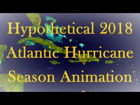 Hypothetical 2018 Atlantic Hurricane Season Animation