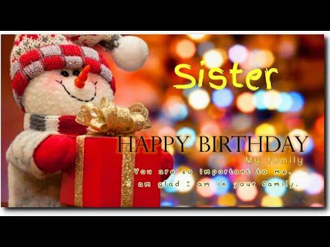 Happy Birthday To My Dear Sister Happy Birthday Sister