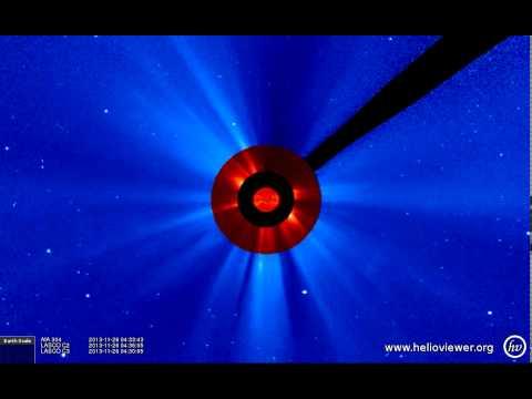 AIA 304, LASCO C2/C3 (2013-11-25 02:49:55 - 2013-11-27 02:13:19 UTC)