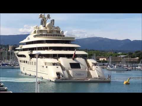 See The Mighty US$ 800 Million [DILBAR] Yacht Docking in Antibes