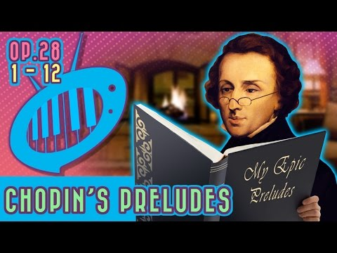 A musical journey of the Chopin Preludes, op. 28, no. 1-12