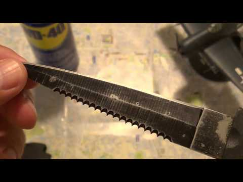 How to remove rust from a diving knife with WD 40 - diving knife restoration