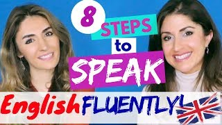 8 Steps to Speak English FLUENTLY | British English Language Lesson #SPON.