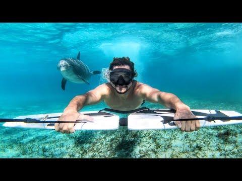 Austin Keen Surfing With Dolphins GoPro Million Dollar Challenge Wakesurfing In Turks and Caicos