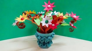 quilling artwork |  miniature flower vase