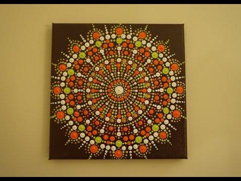 Painting Tutorials: How to Make a Mandala Dot Painting | Ep.2