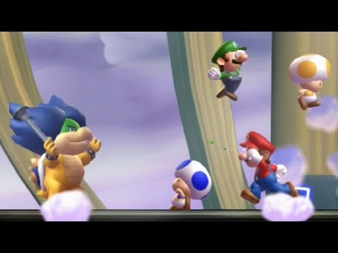 Thumbnail: New Super Mario Bros U - All Bosses (4 Players)