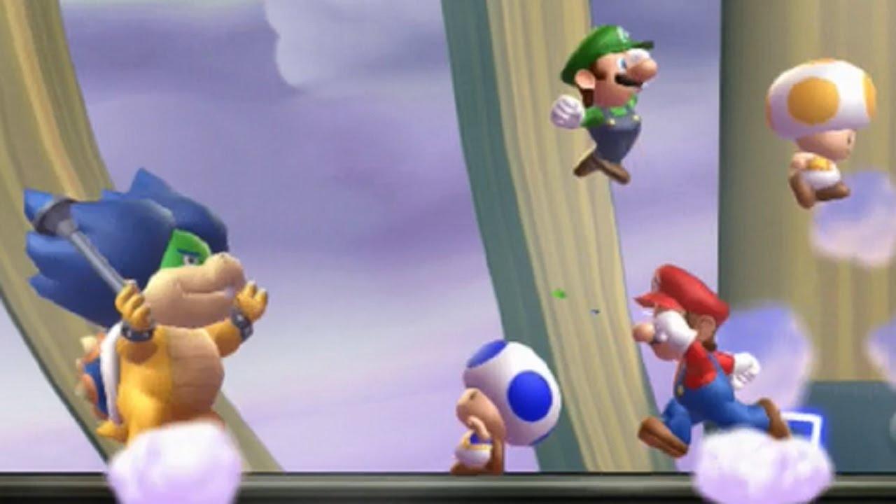 New Super Mario Bros U All Bosses 4 Players Youtube