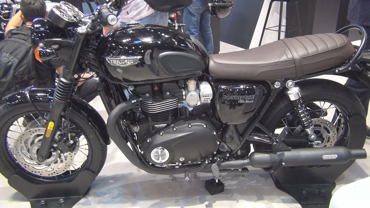 Triumph Bonneville T120 Black 2019 Exterior And Interior Youtube