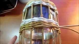 Корзинка с бабочками из газетных трубочек. урок 5. Плетение стенок - часть 2.