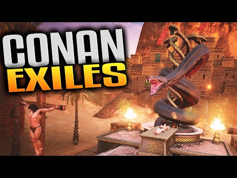 Conan Exiles Gameplay - Leveling Up Live Stream VOD (Let's Play Conan Exiles