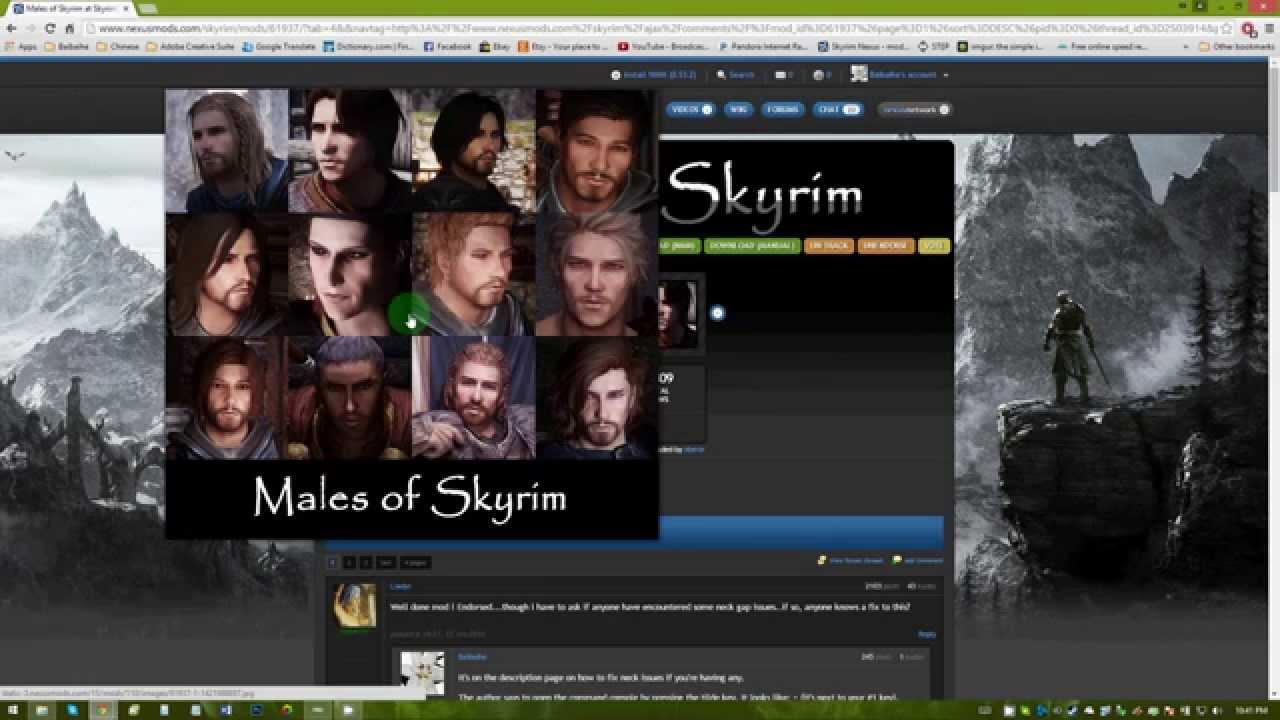Males of Skyrim at Skyrim Nexus - mods and community