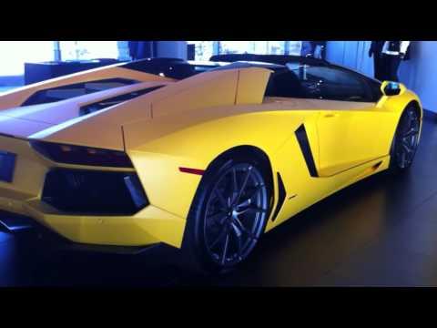 Matte Yellow Lamborghini Aventador Roadster Walkaround - Lamborghini Calgary