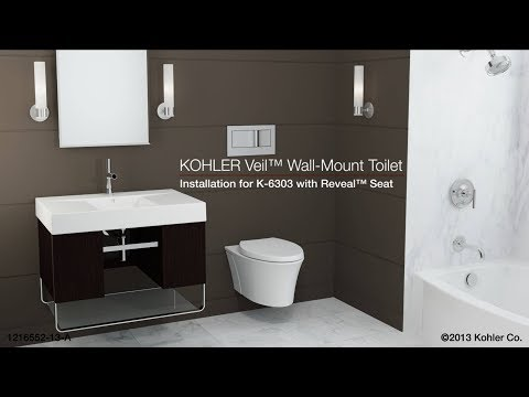 Installation Veil Toilet With Reveal Seat You