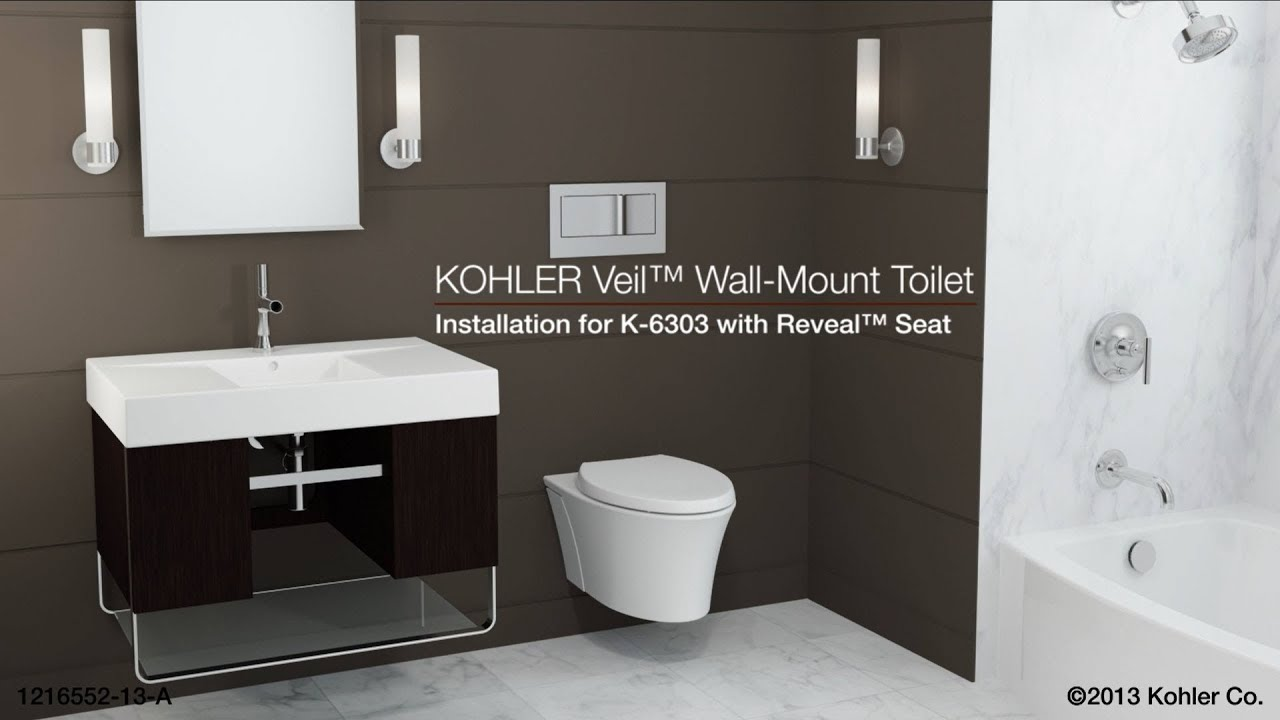 Installation Veil Toilet With Reveal Seat Youtube