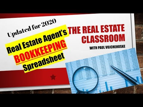 Real Estate Agent Bookkeeping Spreadsheet - Updated for 2020