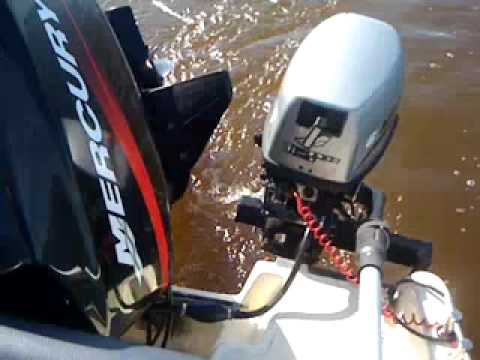 may 2011lake trolling, Mariner (mercury) 6hp, 4km/h