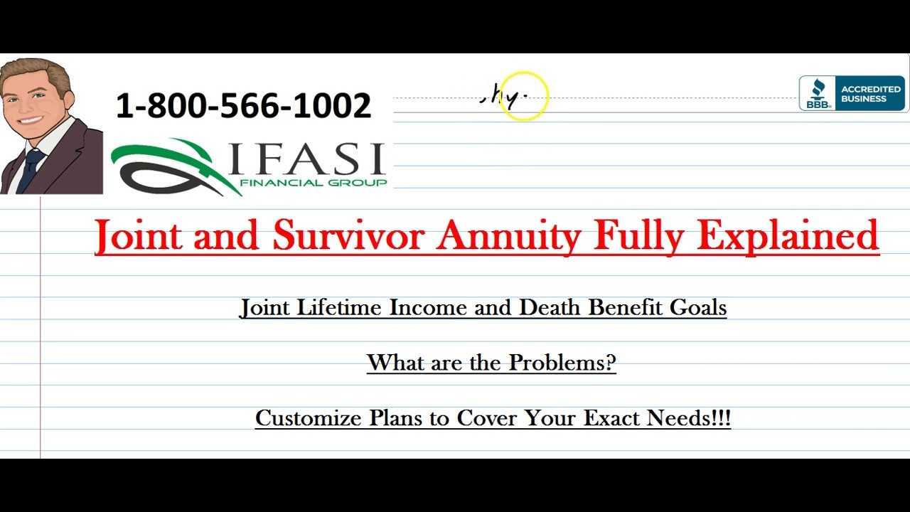 Annuity Quotes Joint And Survivor Annuity  What Is A Joint And Survivor Annuity