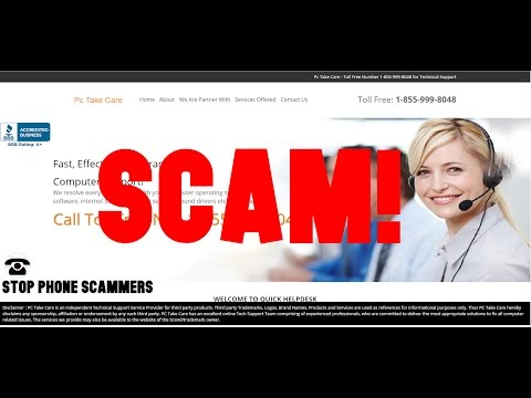 """PC Take Care LLC"" Tech Support Scam 