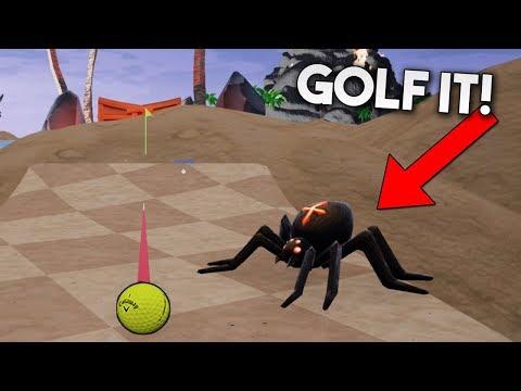 NOS ATACA UNA ARAÑA GIGANTE!! Golf It!