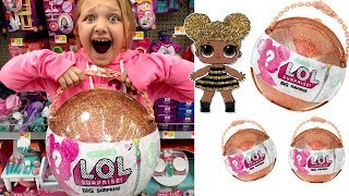 Toy Shopping at Walmart For LOL Surprise BIG Surprise Ball-LOL Surprise Dolls Opening
